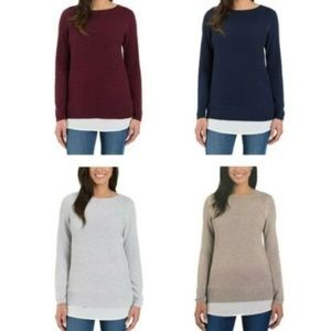 Hilary Radley Women's Two-Fer Sweater